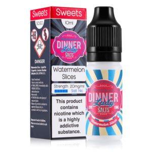 Watermelon Slices Nicotine Salt E-liquid By Dinner Lady Salts