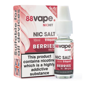 88 Vape Berries Nicotine Salt Eliquid Bottle With Box