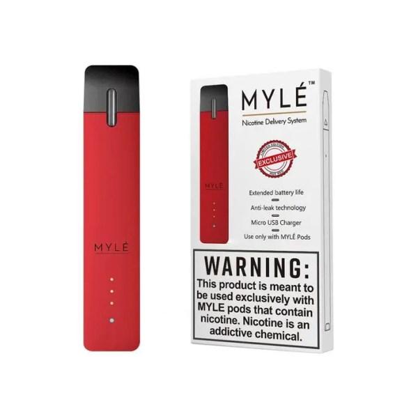 Myle ruby red vape device