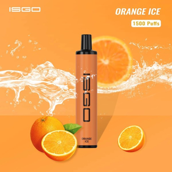 Disposable vape ISGO 1500 puffs ORANGE ICE