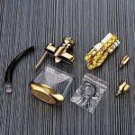 Zidao Jeu de filtres en Alliage de Zinc narguilé Tuyau de narguilé, Accessoires Cadeaux Chicha pour la Filtration des substances dangereuses Shisha Craft Gift,Argent