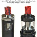 Armerah Lot de 5 embouts pour Aspire Nautilus X & PockeX en résine époxy marbre court/moyen Rouge