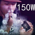 Cigarette Electronique Kit Complet,LHH 150W e cigarette avec Batterie intégrée de 1500 mAh Box Mod,0.3 ohm et Top Fill Atomiseur 2ml, et 10x 10ml E Liquid,sans Nicotine ni Tabac