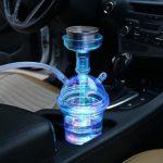 Narguilé en plastique, chicha de voiture légère de voyage LED, chicha portative de tasse de narguilé