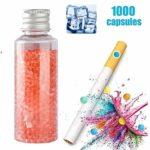 XYZLEO Cigarettes Au Menthol Capsules Aromatiques DIY Cigarette Explosion Perles Click Filtre Capsules D'ArôMe Mixte (1000 Capsules),Black Ice Mint
