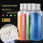 XYZLEO Cigarettes Au Menthol Capsules Aromatiques DIY Cigarette Explosion Perles Click Filtre Capsules D'ArôMe Mixte (1000 Capsules),Orange Peel Mint