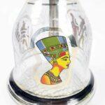 WJMT Shisha Set Copper Copper Shisha Hookah avec Tuyau de Silicone Bol Tong, Café Style Véritable Egyptien Sheesha Gold Couleur