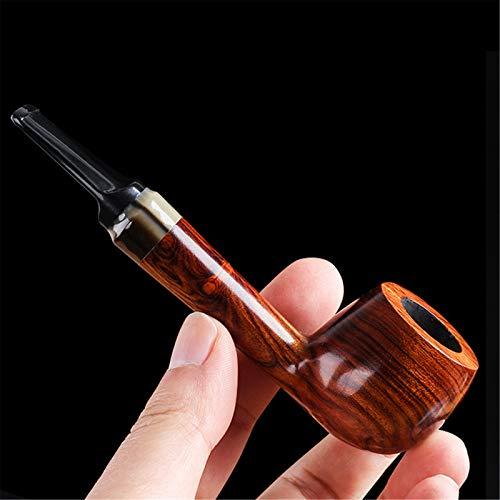 N A Pipe à Fumer en Bois Durable, Pipe à Fumer du Tabac Pipe à Cigarette sculptée à la Main pour Tous Les Amateurs de Tabac