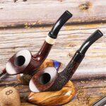 N A Tuyau à Fumer de Tabac à découper en Bois Massif, Tuyau à Fumer détachable de qualité supérieure, Fait à la Main pour Femmes, Hommes