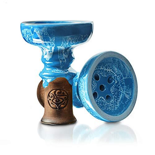 ORACLE HOOKAH® Tête de narguilé – En argile de qualité supérieure – Pour narguilé et narguilé (bleu)