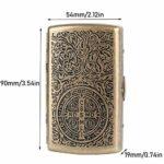 JIANGCJ Mode Boîte à Cigarettes Ultra-Mince de boîtes de Cigarettes en métal de Cigarettes – Porte-Manche à Ressort Double Face pour 12 Cigarettes