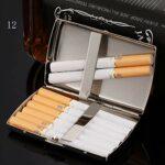 JIANGCJ Mode Etui de Cigarette en Acier Inoxydable de Haute qualité Simplicité Classique Forfait de Cartes élégant Moderne Contient 12 Cigarettes