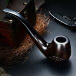 LYQZ Pipe de Tabac à la Main en ébène, Le Cadeau Parfait for la Famille et Les Amis Qui Aiment Fumer