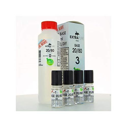 Pack Base 260ml 03mg Extrapure – 3 mg, PG/VG 20/80