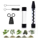 La Mini Pipe en Verre Twisty Glass Blunt est livrée avec Une Bouteille en Verre, Un kit de Nettoyage – Pipe à cigares pour Tabac, Herbes sèches, thé, Feuilles d'herbes et épices-Black