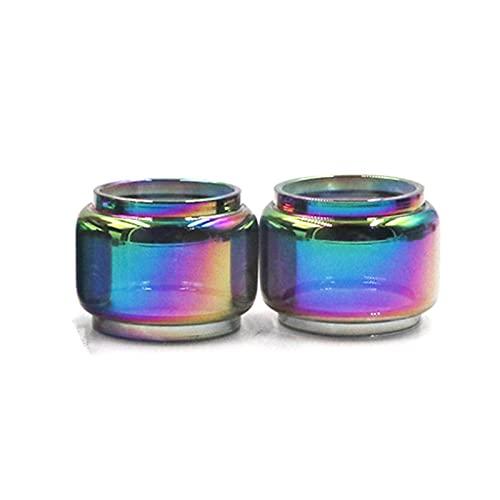 Pang-qingtian 2pcs Rainbow Bubble Tube Verre Tube adapté à Istick Pico 25 s Forme pour Ikonn Pesso Fit pour Serpent SMM SMM Elevate Flow Subtang Coupe en Verre Pyrex