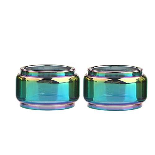 Pang-qingtian 2pcs Rainbow Bubble Verre Tube Fit pour Bachelor Fit pour X Procore Fit pour X Vola Nunchaku Fit pour NexMesh Tank (Couleur : Rainbow, Taille : Fit for NexMESH Tank 5.5ml)