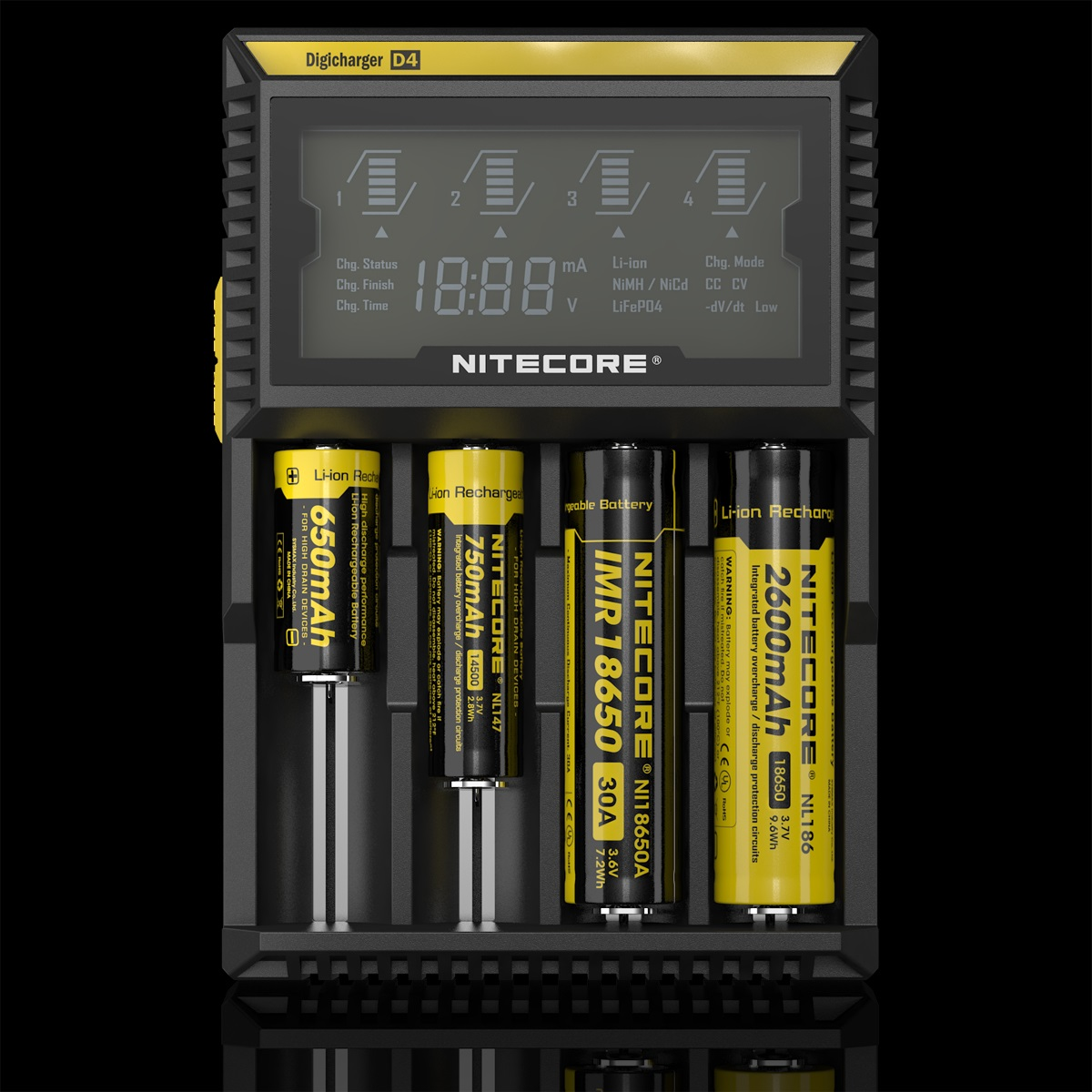 Nitecore Digicharger D4 MultiinOne Battery Charger