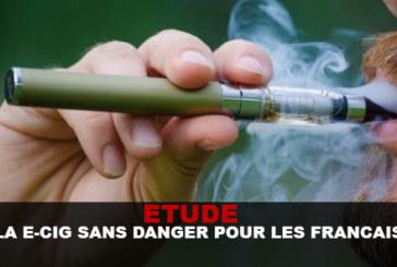 ETUDE : LA E-CIG SANS DANGER POUR LES FRANCAIS !