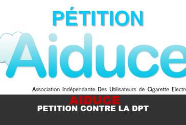 AIDUCE :  Pétition contre l'application de la DPT