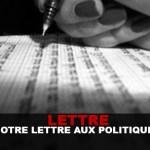 REAKTION: Unser Brief an die französische Politik.