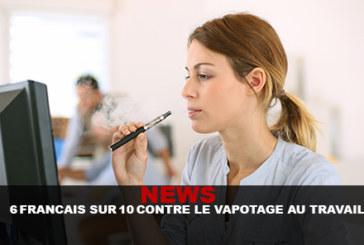 NOVITÀ: 6 Francese su 10 contro lo svapo sul lavoro!