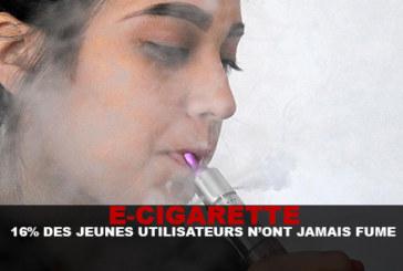 E-CIG: 16% of young users never smoked