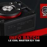 BATCH INFO: вкладка «Катушка Master 521»