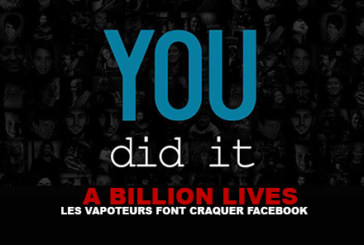 A BILLION LIVES : Les vapoteurs font craquer Facebook !