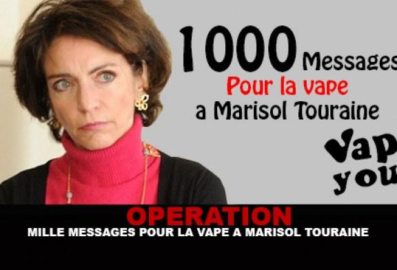OPERATION : Mille messages pour la vape a Marisol Touraine.
