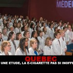 QUEBEC : Selon une étude, la e-cigarette pas si inoffensive