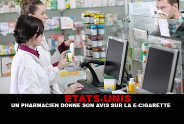 ETATS-UNIS : Un pharmacien donne son avis sur la e-cigarette.