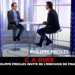 CA DIRE: פיליפ פרסלים מוזמנים על נושא 5 של צרפת.