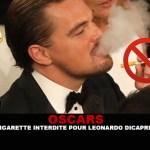 OSCARS: E- סיגריה אסורה לאונרדו די Caprio!