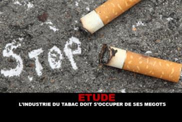 ETUDE : L'industrie du tabac doit s'occuper des mégots.
