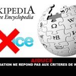 AIDUCE : L'association ne répond pas aux critères de Wikipédia.