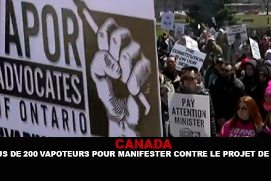 CANADA : Plus de 200 vapoteurs pour manifester contre le projet de loi.