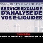 CANADA: AQV offre un servizio esclusivo di analisi e-liquid.