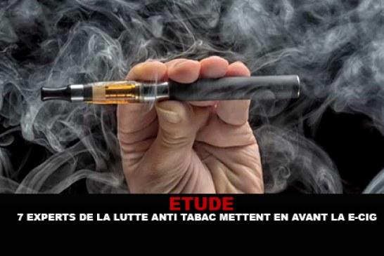 ETUDE : 7 experts de la lutte anti-tabac mettent en avant la e-cigarette.