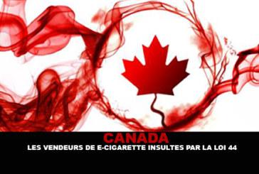 CANADA : Les vendeurs de e-cigarette insultés par la loi 44.