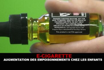 E-CIGARETTE: Increased poisoning in children.