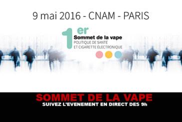 SOMMET DE LA VAPE : Suivez l'événement en direct dès 9h !