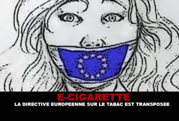 E-CIGARETTE: דירקטיבה הטבק האירופי הוא transposed.