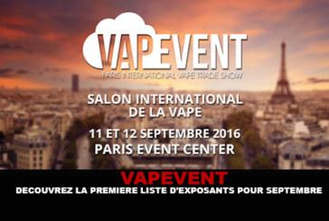 VAPEVENT: גלה את הרשימה הראשונה של מציגים עבור ספטמבר!