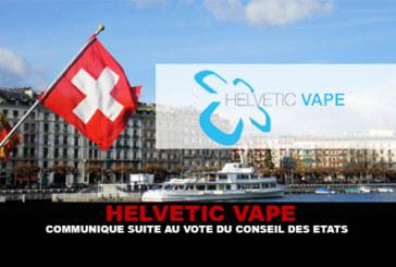 הלויטי VAPE: גילוי דעת בעקבות ההצבעה של מועצת המדינות.