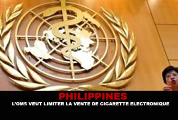 PHILIPPINES : L'OMS veut limiter la vente de cigarette électronique.