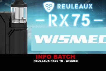 מידע נוסף: Reuleaux RX75 TC (Wismec)