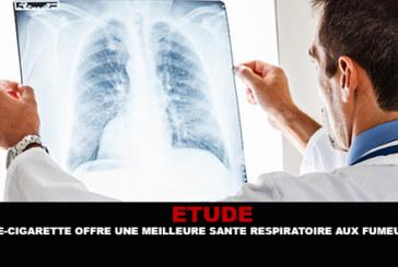 ETUDE : La e-cigarette offre une meilleure santé respiratoire aux fumeurs.