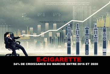 E-CIGARETTE : 24% de croissance du marché entre 2016 et 2020.