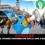 SPAGNA: una giornata di informazione sullo svapo a Madrid.